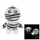 Cartoon Style USB 2.0 Flash Drive - White + Black (8GB)