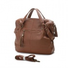 Fashion PU Handbag / One Shoulder Backpack w/ Cell Phone / Card Pocket for Women - Brown