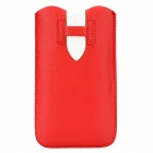 Protective PU Leather Pouch Case for Samsung N7100 - Red