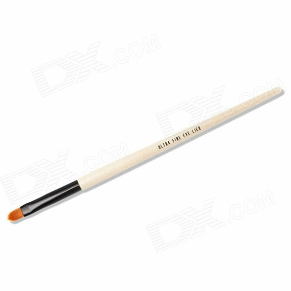 Finding Color Professional Wooden Handle Beauty Makeup Cosmetic Eyeliner Brush - White