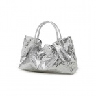 Fashion Shining Sparkle Star PU One Shoulder Bag for Women - Silver
