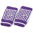 Pineapple Style Warm Fingerless Computer Typing Woolen Gloves for Women - Purple (Pair / Free-Size)