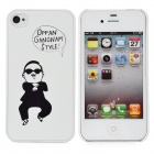 Psy Oppa Gangnam Style Protective Plastic Back Case for iPhone 4 / 4S - White + Black