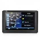 "APJ-509 5"" Resistive Screen Win CE 6.0 GPS Navigator with Europe Map - Black + White"