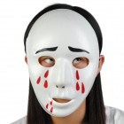 Bleeding Plastic Mask w/ Elastic Strap - White + Red + Black