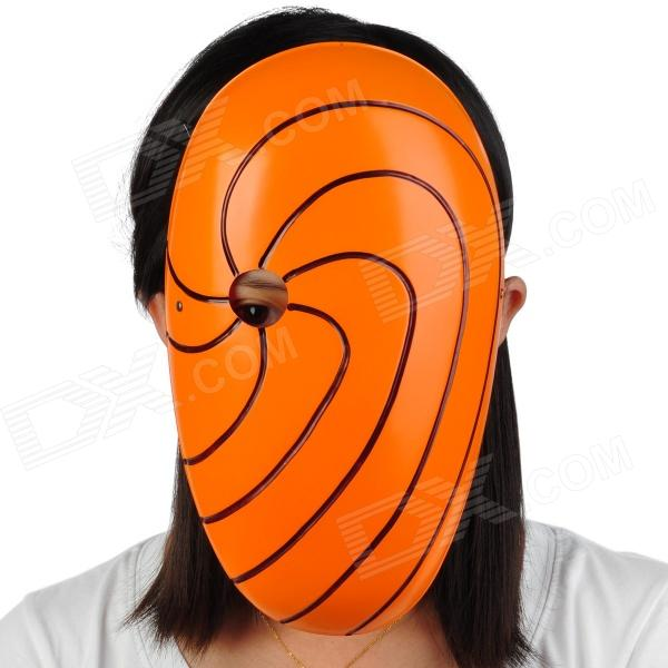 Radial Line Style Plastic Mask w/ Elastic Strap - Orange halloween cute pumkin style costume hat set for children orange green