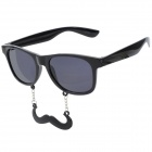 Funny Handlebar Mustache UV 400 Protection Sunglasses - Black