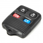 LX009 Replacement 4-Button Car Remote Key Case Shell for Ford - Black