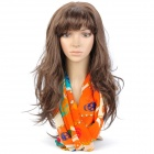 Skull Pattern Fashion Chiffon Scarf Shawl - Orange