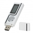 "Stylish 1.1"" Screen MP3 Player w/ FM - White + Black (2GB)"