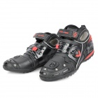 PRO-BIKER A9002 Fashion Motorcycle Sports Racing Boots Shoes - Black + Red (Pair / Size 44)