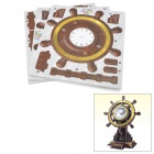 Rudder Style DIY 3D Foam Intelligent Puzzle Clock - Brown + Golden + White (1 x AA)