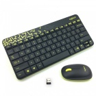Logitech MK240 Nano 79-Key Wireless Keyboard w/ 1000dpi Mouse - Black + Yellow (4 x AAA)