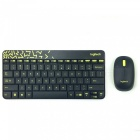 Logitech MK240 79-Key Wireless Keyboard w/ 1000dpi Mouse - Black + Blue (4 x AAA)
