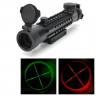 Tactical 4X28EG Illuminated Red / Green Crosshair Tri Weaver Rail Sight Scope (1 x CR2032)