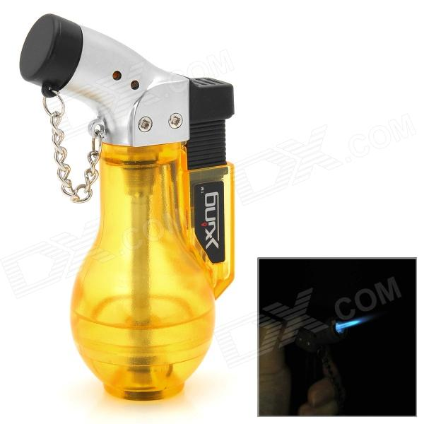 Vase Style Windproof Plastic Butane Jet Torch Lighter with Cap - Yellow