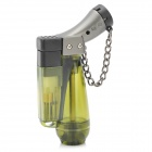 Windproof Plastic Butane Jet Torch Lighter with Cap - Army Green