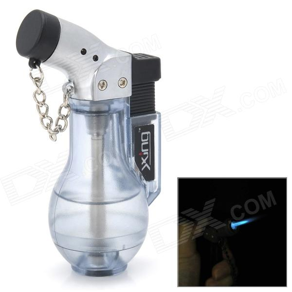Vase Style Windproof Plastic Butane Jet Torch Lighter with Cap - Transparent