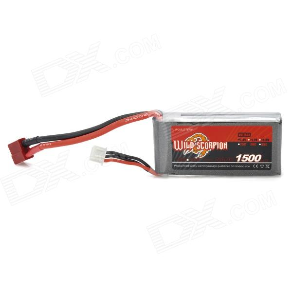 Scorpion 7.4V 25C 1500mAh Li-Poly Battery Pack for R/C Model - Silver + Grey