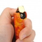 Cool Zinc Alloy Butane Jet Torch Lighter with Cap - Orange