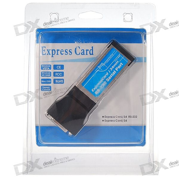 2-Port Serial RS232 Expansion ExpressCard for Laptops