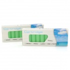 Strawberry Flavor No Nicotine Electronic Cigarette Refills Cartridges - Green (2 x 10 PCS)