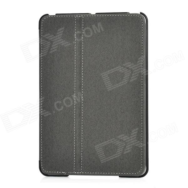Ultra-Thin Protective PU Leather Flip-Open Case for Ipad MINI - Black protective pu pc flip open case cover for ipad mini red