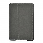 Ultra-Thin Protective PU Leather Flip-Open Case w/ Smart Cover for iPad Mini - Black