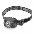New-8200 3W White LED + Red LED 170lm 3-Mode Headlamp - Black (3 x AAA)