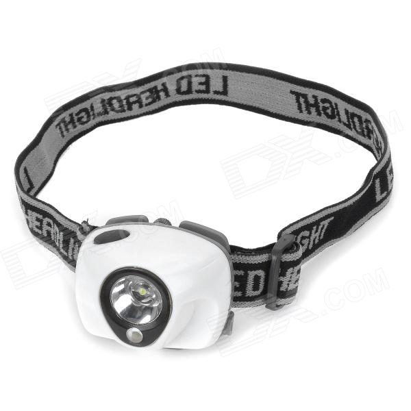 New-8200 3W White LED + Red LED 170lm 3-Mode Headlamp - White (3 x AAA)