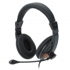 COSONIC CT-760 Stereo Headphones w/ Microphone - Black