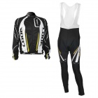 LOOK Team Long Sleeve Bicycle Bike Riding Suit Jersey + Trousers Set for Men (Size-XXXL)