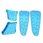 Universal Aluminum Alloy Motorcycle DIY Decorative Foot Pedal Footrest - Blue (4 PCS)
