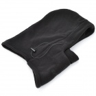 Outdoor Sports Polar Fleece Hood Neck Warmer Wind Resistant Hat - Black