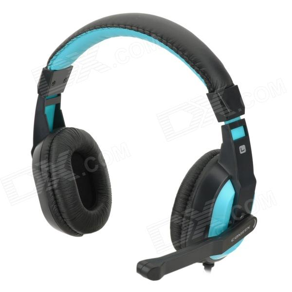 Cosonic CT-770 Stereo Gaming Headphones w/ Microphone - Blue + BlackHeadphones<br>Model:Form  ColorBlackHeadphone FeaturesWith Microphone,Game HeadsetSensitivity:Frequency Response:Impedance:Packing List<br>