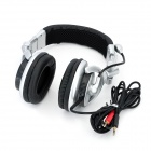 COSONIC CT-890 Super Bass Stereo Headphones w/ Microphone - Silver + Black