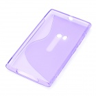 Protective Silicone Back Case Cover for Nokia Lumia920 - Purple