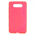 Protective Silicone Back Case Cover for Nokia Lumia820 - Bright Red