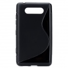 Protective Silicone Back Case Cover for Nokia Lumia820 - Black