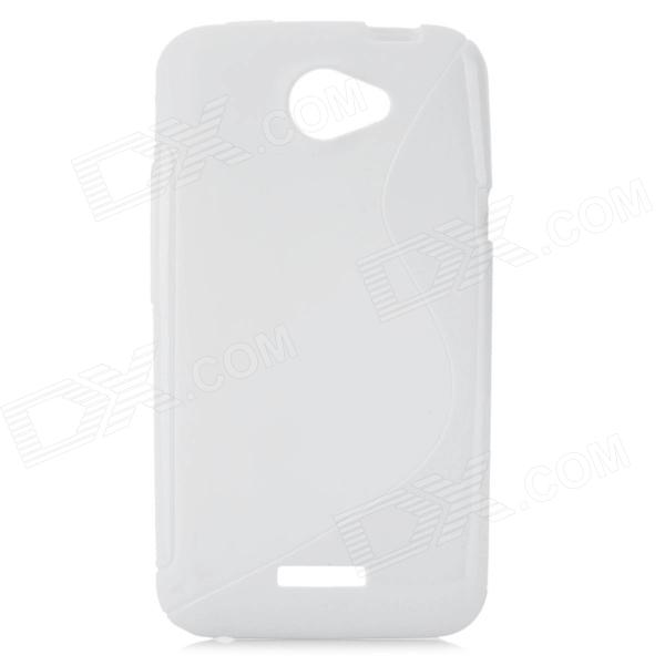 Protective TPU Back Case Cover for HTC One X - White