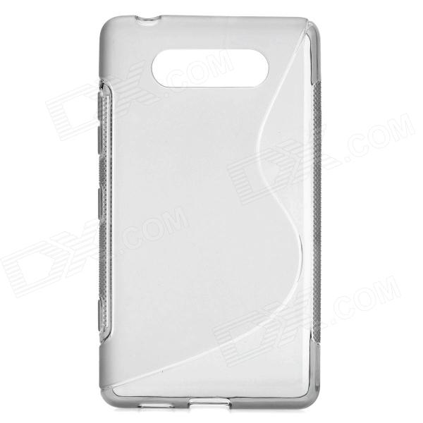 все цены на Protective Silicone Back Case Cover for Nokia Lumia820 - Grey онлайн