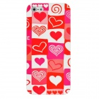 Heart Pattern Protective Plastic Back Case for iPhone 5 - Deep Pink
