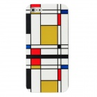 Hotsion I5-03 Grid Pattern Protective Plastic Back Case for Iphone 5 - White + Yellow + More