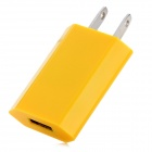 US Plug USB Charging Adapter - Yellow