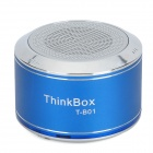 THINKBOX T-B01 Portable Bluetooth v2.1 + EDR Speaker w/ FM / Microphone - Blue + Silver