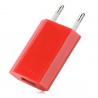 EU Plug USB Charging Adapter - Red
