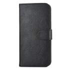 Fashion Protective PU + PC Flip-Open Case w/ Card Slots for Iphone 5 - Black
