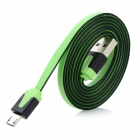 Micro USB Male to USB Male Data Transmission & Charging Cable - Green + Black (100cm)