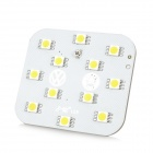 DianZi DZ-21NW T10 2.4W 230lm 12-SMD 5050 LED Warm White Light Car Reading Lamp (12~17V)
