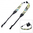 Stylish CAM-in Flower Pattern Neck / Shoulder Sling Strap for DSLR Camera - Pale Yellow + Black